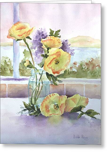 Sue's Poppies Greeting Card by Bobbi Price