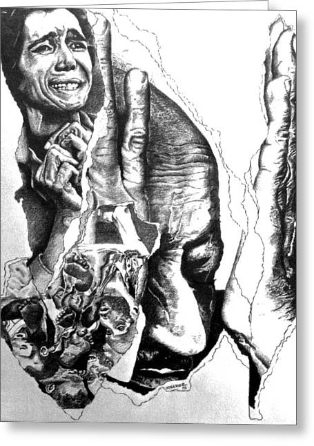 Suffering-holocaust Greeting Card by Tj Voelker