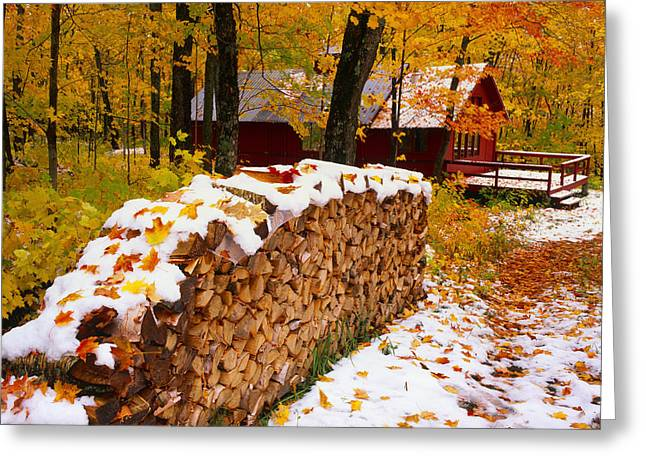 Sugar Cabin, Saint-ferreol-les-neiges Greeting Card by Yves Marcoux