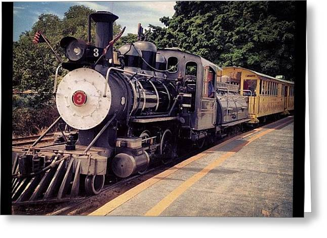 Sugar Cane Train Greeting Card