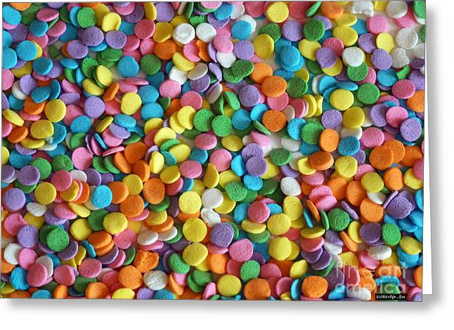 Sugar Confetti Greeting Card by Methune Hively