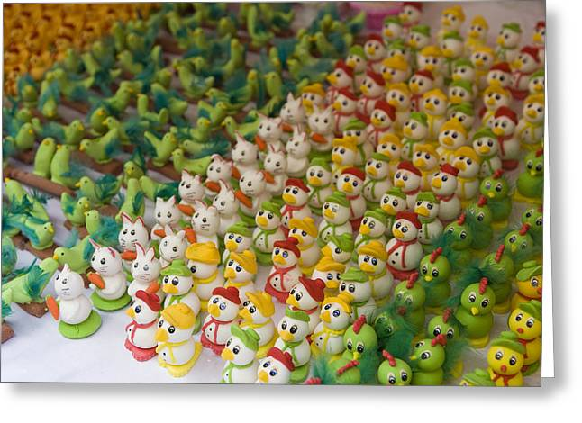Sugar Figurines For Sale At The Day Greeting Card by Krista Rossow