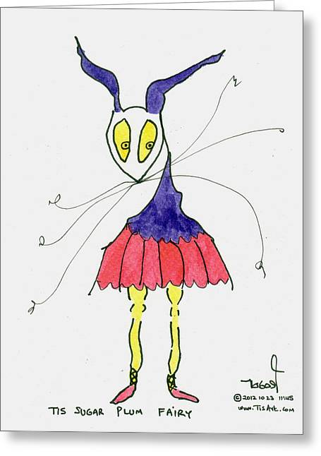 Sugar Plum Fairy Greeting Card by Tis Art