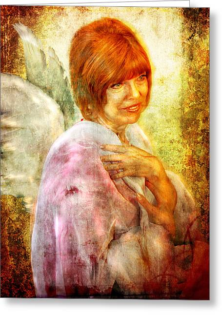 Sullivan. Angel Greeting Card by Nada Meeks