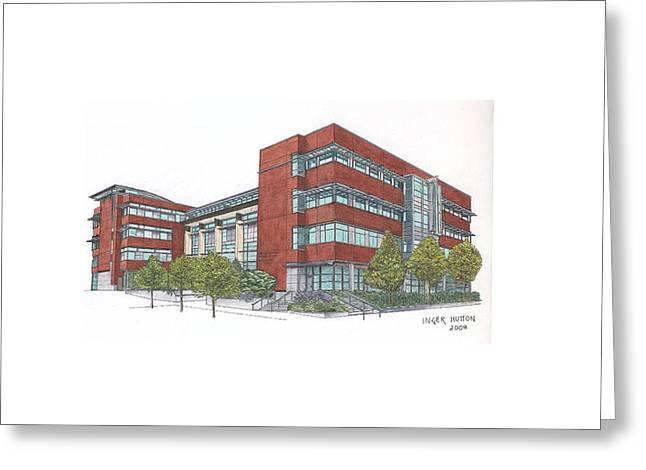 Sullivan Hall At Seattle U Greeting Card by Inger Hutton