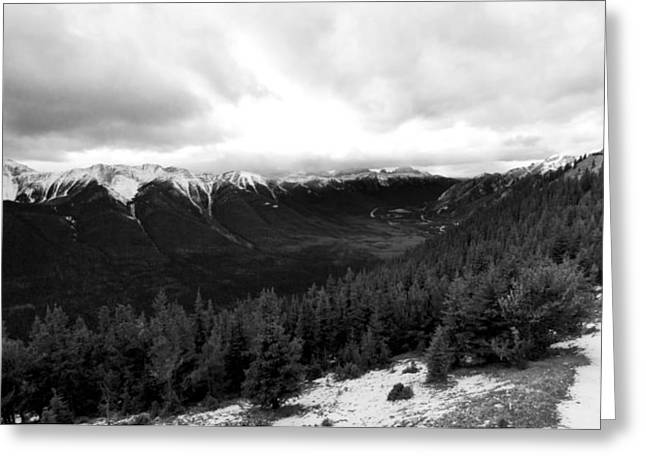 Greeting Card featuring the photograph Sulphur Mountain by JM Photography
