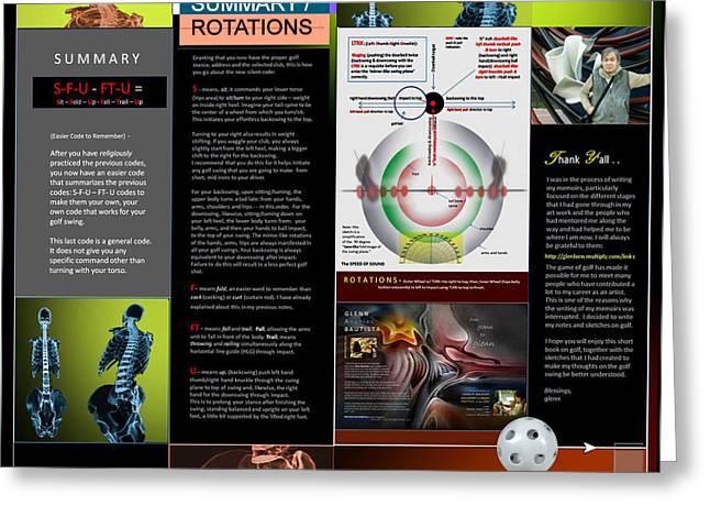 Summary Rotations P14 Greeting Card by Glenn Bautista