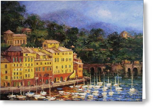 Summer Afternoon In Portofino Greeting Card by R W Goetting