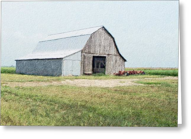 Greeting Card featuring the digital art Summer Barn by Debbie Portwood