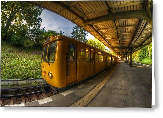 Summer Eveing Train. Greeting Card
