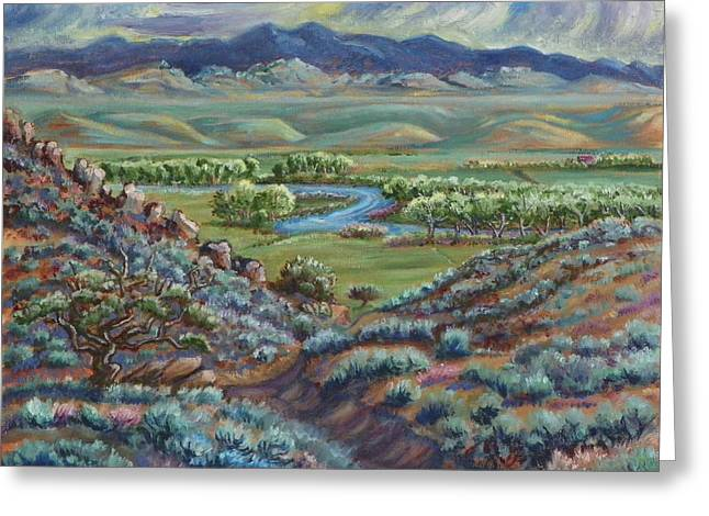 Summer Evening In The River Valley Greeting Card