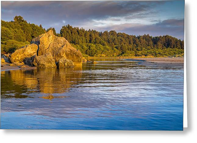Summer Evening On Little River Greeting Card by Greg Nyquist