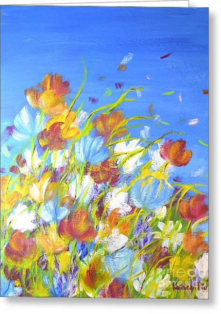 Summer Flowers Greeting Card by Kathleen Pio