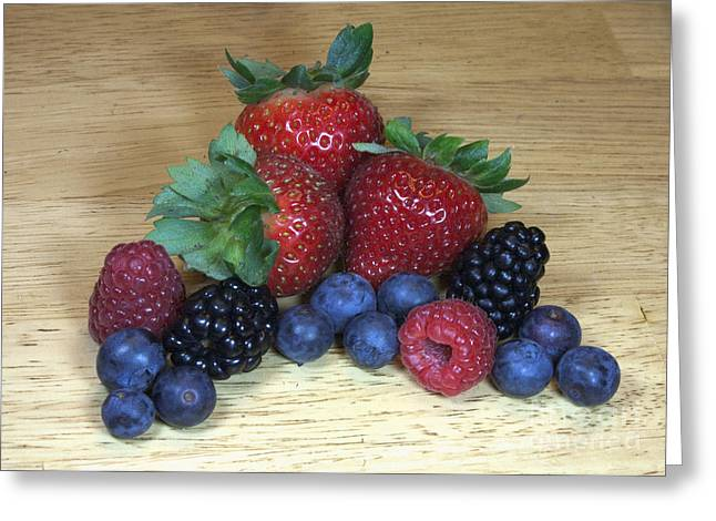 Summer Fruit Greeting Card by Michael Waters
