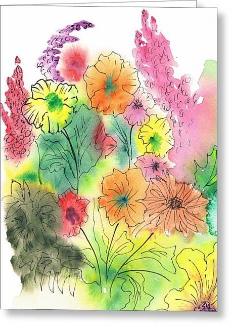 Summer Garden Greeting Card by Christine Crawford
