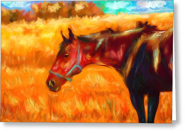 Summer Heat Greeting Card by Michelle Wrighton
