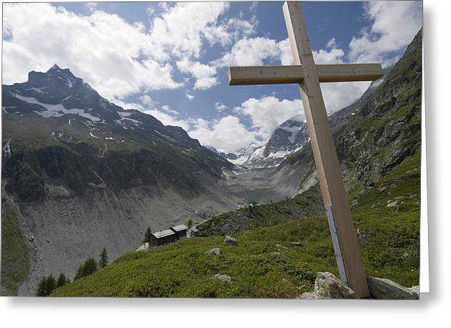 Summer In The Mountains. The Cross Greeting Card by Axiom Photographic