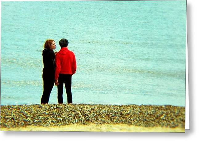 Summer Lovin' #couple #love #red #man Greeting Card