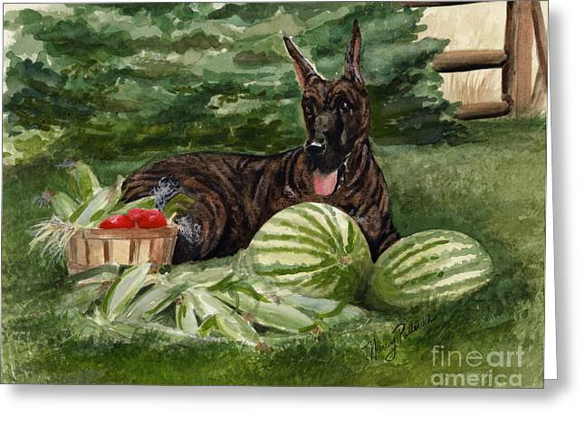Greeting Card featuring the painting Summer by Nancy Patterson