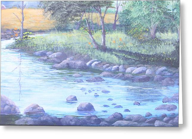 Summer River Greeting Card by Reggie Jaggers