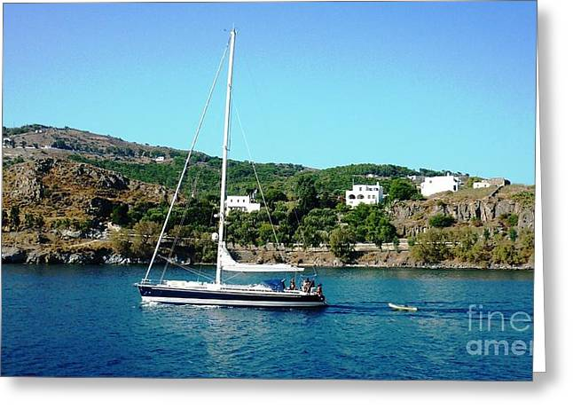 Summer Sailing Greeting Card by Therese Alcorn