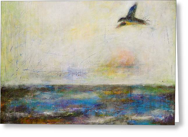 Summer Series The Fog Is Setting In Greeting Card by Johane Amirault