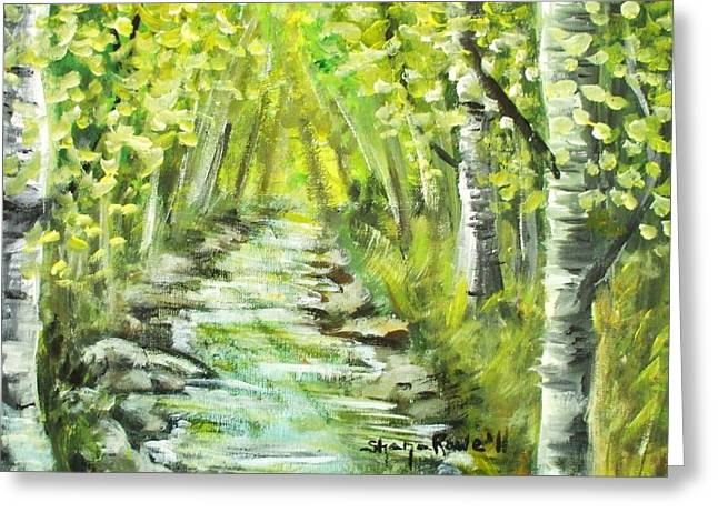 Greeting Card featuring the painting Summer by Shana Rowe Jackson