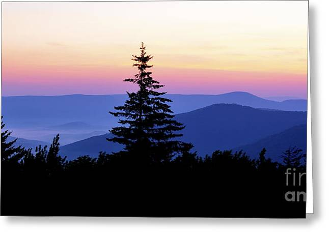 Summer Solstice Sunrise Highland Scenic Highway Greeting Card by Thomas R Fletcher