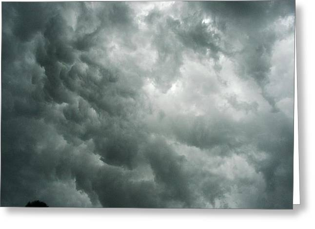Summer Storm Clouds Greeting Card by Marian Hebert