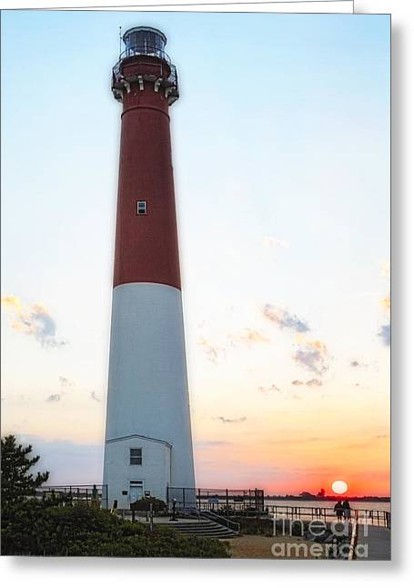 Summer Sunset At Old Barnie  Greeting Card by George Oze