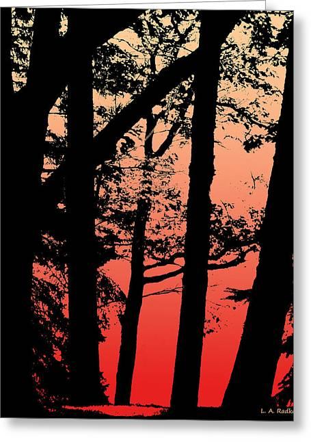 Summer Sunset Greeting Card