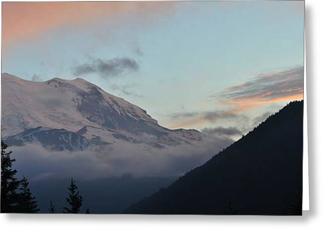 Summer Sunset On Mt. Rainier Greeting Card