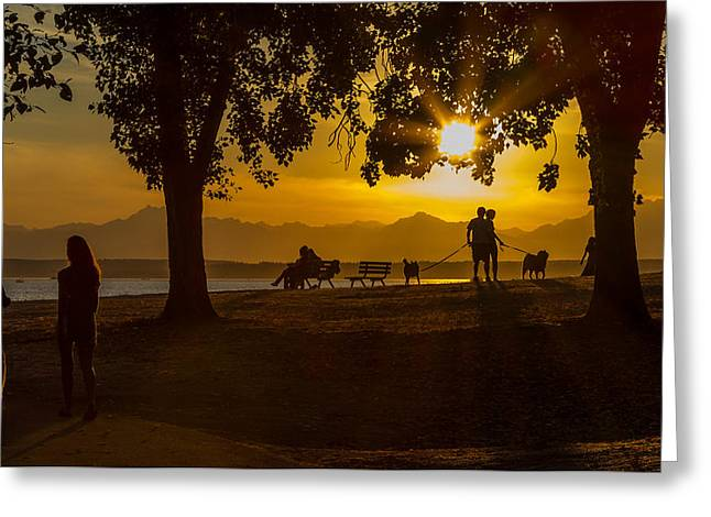Summer's Last Sunset Greeting Card by Ken Stanback