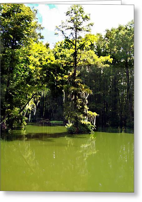 Summertime At Green Field Lake Greeting Card