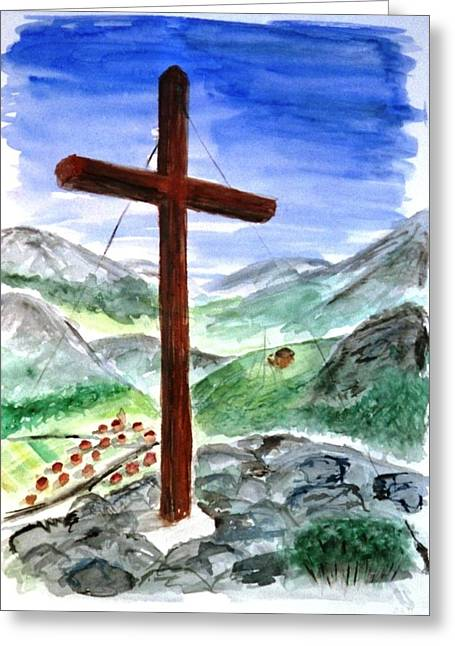 Summit Cross Greeting Card