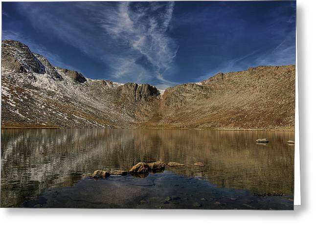 Greeting Card featuring the photograph Summit Lake In September by Stephen  Johnson