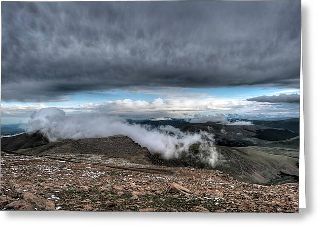 Greeting Card featuring the photograph Summit View On Mount Evans by Stephen  Johnson