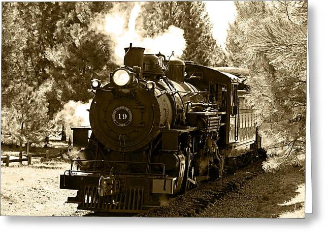 Sumpter Rr Engine 19 Greeting Card