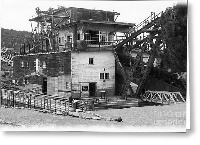 Sumpter Valley Gold Dredge Greeting Card by Charles Robinson