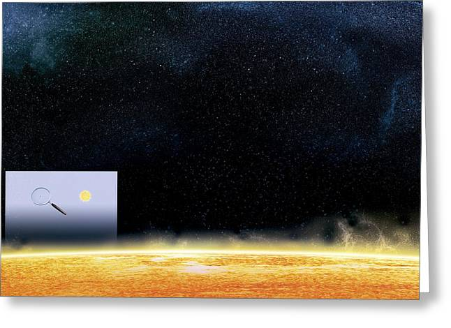 Sun And Betelgeuse, Artwork Greeting Card by Claus Lunau