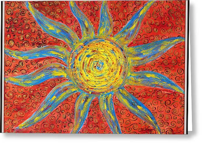 Sun Greeting Card by Ankita Ghosh