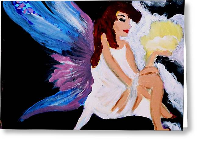 Sun Fairy Greeting Card by Marie Bulger