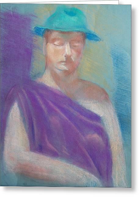 Sun Hat Greeting Card by Joanna Gates