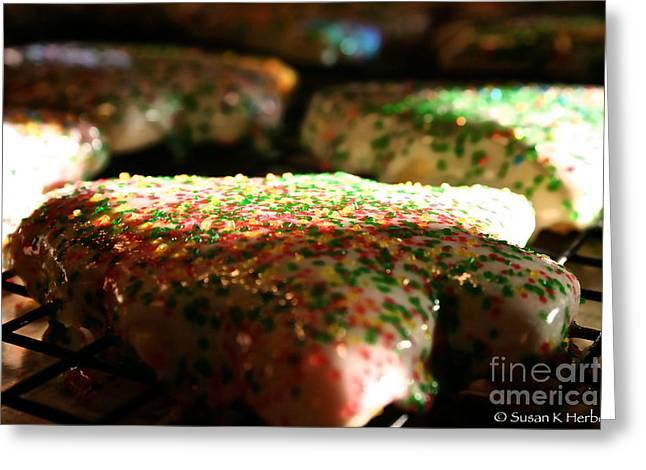 Sun Kissed Christmas Cookies Greeting Card by Susan Herber
