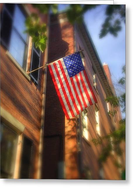 Sun Kissed Flag Greeting Card by Joann Vitali