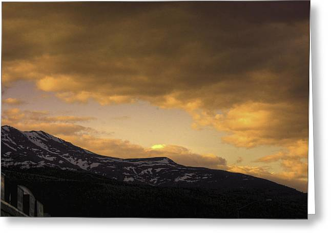 Sun Set Eagle River Greeting Card by Grover Woessner