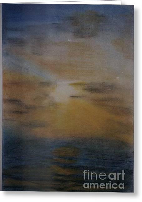 Sun Set Greeting Card by Nahed Ismaeil