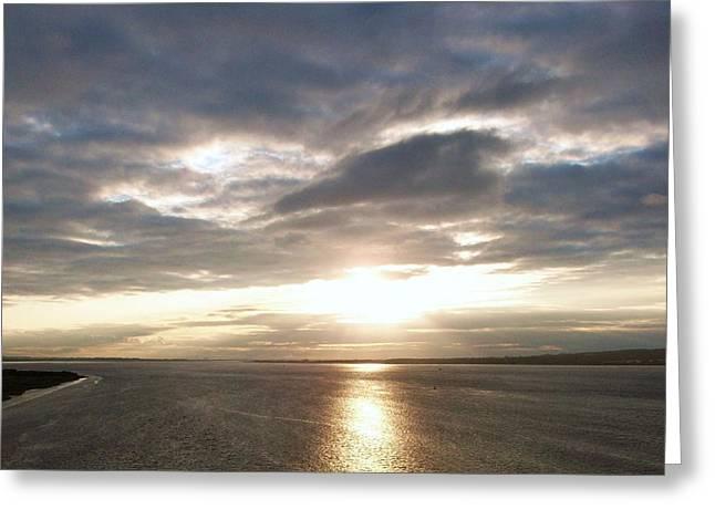 Sun Set On The Humber Greeting Card