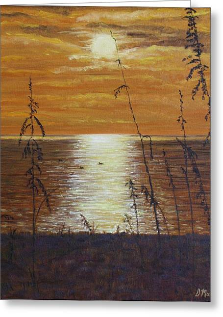 Sun Setting In Florida Greeting Card by Donna Muller