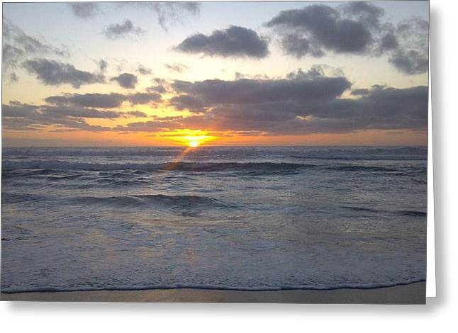 Sun Setting In Socal Greeting Card by Anthony Anderson